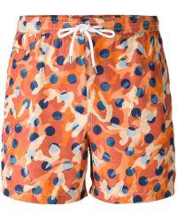 Kiton - Camouflage Print Swim Shorts - Lyst