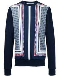 Yoshio Kubo - Printed Panel Sweatshirt - Lyst