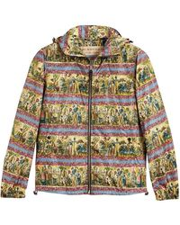Burberry - Figurative Print Lightweight Technical Hooded Jacket - Lyst