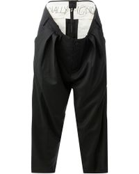 Moohong Attached Layered Waist Trousers