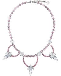 Miu Miu - Crystal Jewel Embellished Necklace - Lyst