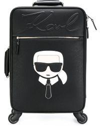 Karl Lagerfeld - Karl Four Wheel Suitcase - Lyst