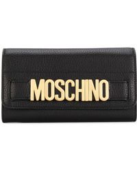 Moschino - Logo Plaque Wallet - Lyst
