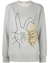 Peter Jensen - Rabbit And Spongebob Print Sweatshirt - Lyst