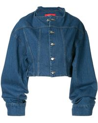 Solace London - Cropped Denim Jacket - Lyst
