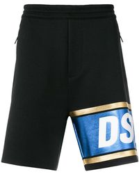 DSquared² - Pantalones cortos de deporte con franja - Lyst