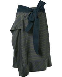 A.F.Vandevorst - Striped Skirt - Lyst