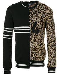 Dolce & Gabbana - Double Design Crew Neck Jumper - Lyst