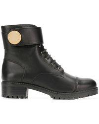 Emporio Armani - Ankle Strap Boots - Lyst