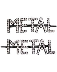 Ashley Williams - Metal Embellished Hair Clips - Lyst