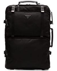 Prada - Multi Pockets Nylon 2-wheel Trolley - Lyst