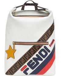 Fendi - Mania Panelled Lettering Logo Backpack - Lyst