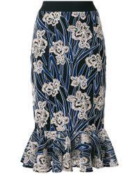Three Floor - Valentina Floral Mermaid Skirt - Lyst