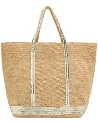 Vanessa Bruno - Sequin Trim Shopper Tote - Lyst
