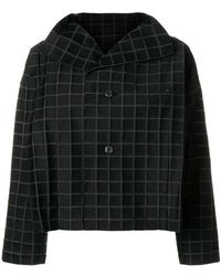 Issey Miyake - Cropped Check Jacket - Lyst