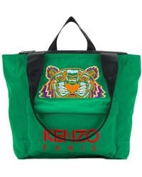 KENZO - Embroidered Tiger Tote - Lyst