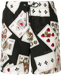 Dolce & Gabbana - Poker Cards Printed Beachwear - Lyst