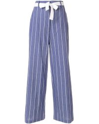 Hache - Striped Palazzo Trousers - Lyst