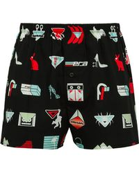 Prada - Logo Print Boxer Shorts - Lyst