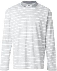 Eleventy - Collar Striped Jumper - Lyst