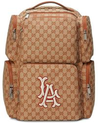 1539fbab9693 Gucci - Large Backpack With La Angelstm Patch - Lyst