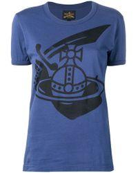 Vivienne Westwood Anglomania - Logo Print T-shirt - Lyst