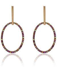 Ileana Makri - 18k Yellow Gold Diamond Hoop Earrings - Lyst
