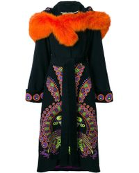 Yuliya Magdych - Peacock Hooded Embroidered Coat - Lyst