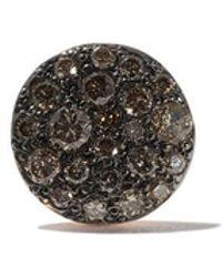 Pomellato - 18kt Rose Gold Sabbia Brown Diamond Stud Earring - Lyst