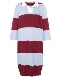 G.v.g.v - Oversized Striped Rugby Shirt Dress - Lyst