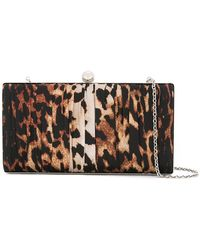 we11done - Leopard Print Chain Clutch Bag - Lyst