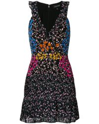 Saloni - Floral Print Dress - Lyst
