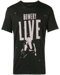 John Varvatos - Bowery Live T-shirt - Lyst