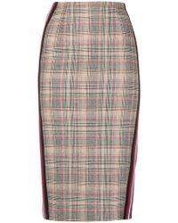 Pinko - Plaid Pencil Skirt - Lyst
