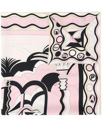 Emilio Pucci - La Villa Print Silk-twill Scarf - Lyst