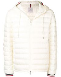 6669bea0e Lyst - Moncler Zipped Padded Jacket in White for Men