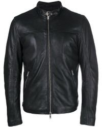 Dondup - Leather Racer Jacket - Lyst