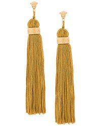 Versace - Medusa Tassel Earrings - Lyst