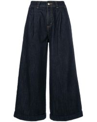 Societe Anonyme - Cropped Wide Leg Jeans - Lyst