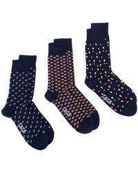 Fefe - Pack Of Three Patterned Socks - Lyst
