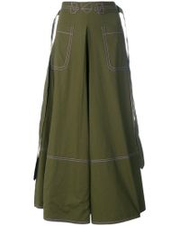 Marni - Contrast Stitch Skirt - Lyst