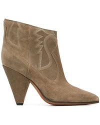 Buttero - Embroidered Sides Ankle Boots - Lyst