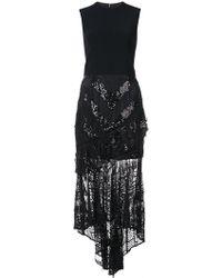 Christian Siriano - Sequin Lace Asymmetric Dress - Lyst