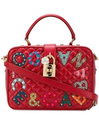 1c38bb9a15 Lyst - Dolce   Gabbana Dolce Soft Majolica-print Leather Box Bag