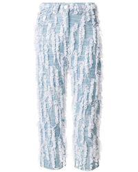 Faustine Steinmetz - Handwoven Loop Cropped Jeans - Lyst