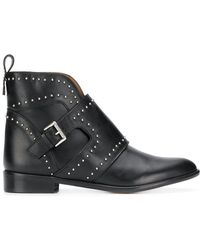 Emporio Armani - Studded Ankle Boots - Lyst