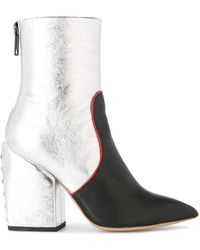 Petar Petrov - Metallic Ankle Boots - Lyst