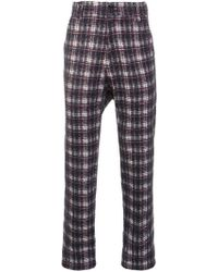 Aganovich - Drop Crotch Tartan Trousers - Lyst