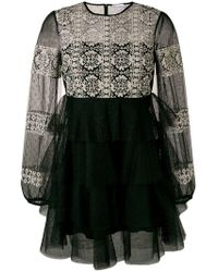 RED Valentino - Embroidered Lace Dress - Lyst