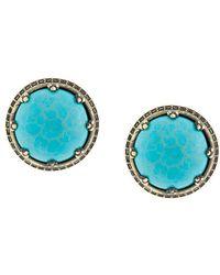 Iosselliani - Elegua Turquoise Clip-on Earrings - Lyst